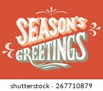 season's greeting vintage hand... | Shutterstock . vector #267710879