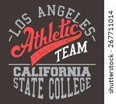 los angeles athletic team t...   Shutterstock . vector #267711014