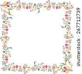 decorative floral frame | Shutterstock .eps vector #267712739