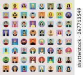 set avatars people. modern flat ... | Shutterstock .eps vector #267713549