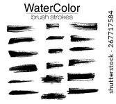 grunge brush strokes  ... | Shutterstock .eps vector #267717584