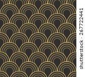 seamless antique palette art... | Shutterstock .eps vector #267722441