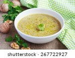 traditional soup kharcho of... | Shutterstock . vector #267722927