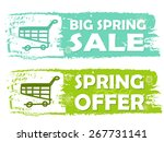 big spring sale and offer with... | Shutterstock .eps vector #267731141
