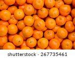 fresh mandarin oranges texture | Shutterstock . vector #267735461