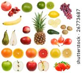 set of fruits isolated on white ... | Shutterstock . vector #26773687