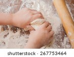 making pie  kid's hands... | Shutterstock . vector #267753464