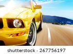 Stock photo yellow sport car 267756197