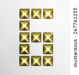letter icon  gold pixel font... | Shutterstock .eps vector #267761255