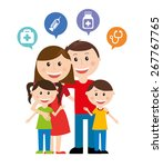 happy family design  vector... | Shutterstock .eps vector #267767765