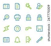 organizer web icons set | Shutterstock .eps vector #267770309