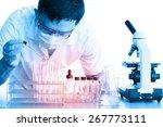 male medical or scientific... | Shutterstock . vector #267773111