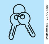 bunch of keys.vector... | Shutterstock .eps vector #267777209