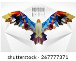 abstract polygonal bird.... | Shutterstock .eps vector #267777371