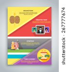 infographic business brochure... | Shutterstock .eps vector #267777674