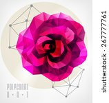 abstract polygonal rose.... | Shutterstock .eps vector #267777761