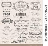 calligraphic design elements... | Shutterstock .eps vector #267778205