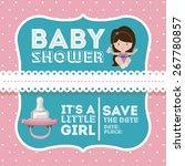 baby shower design over pastel... | Shutterstock .eps vector #267780857