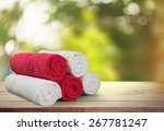 towel  laundry  textile. | Shutterstock . vector #267781247