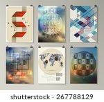set of poster  flyer  brochure... | Shutterstock .eps vector #267788129