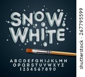 snow white alphabet and numbers ... | Shutterstock .eps vector #267795599