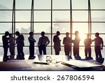 business people conference...   Shutterstock . vector #267806594