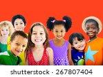 diversity children friendship... | Shutterstock . vector #267807404