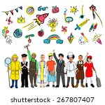 kids childhood leisure activity ... | Shutterstock . vector #267807407