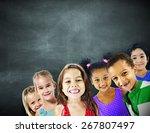 children kids diversity... | Shutterstock . vector #267807497