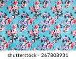 rose fabric background | Shutterstock . vector #267808931