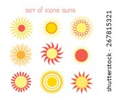 graphic icons suns isolated on... | Shutterstock .eps vector #267815321