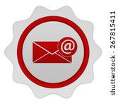 email circular icon on white... | Shutterstock . vector #267815411