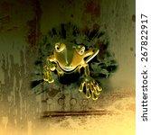 cute cartoon gecko | Shutterstock . vector #267822917