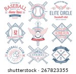baseball badges and icons | Shutterstock .eps vector #267823355