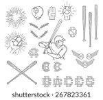 baseball bundle for any use | Shutterstock .eps vector #267823361