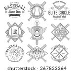 baseball badges and icons | Shutterstock .eps vector #267823364