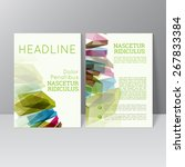vector brochure template design ... | Shutterstock .eps vector #267833384