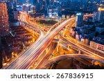 city interchange closeup at