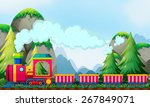 train ride at daytime by the... | Shutterstock .eps vector #267849071