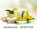 cosmetics  bar of soap  nature. | Shutterstock . vector #267857144