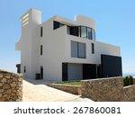 external view of a contemporary ... | Shutterstock . vector #267860081