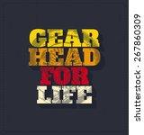 gear head for life  ... | Shutterstock .eps vector #267860309
