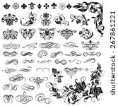 vector set of calligraphic... | Shutterstock .eps vector #267861221