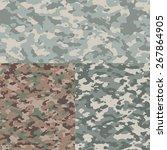 set of three camouflage vector... | Shutterstock .eps vector #267864905