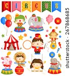 it's circus carnival day | Shutterstock .eps vector #267868685