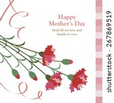 carnations of mother's day | Shutterstock .eps vector #267869519
