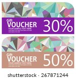 colorful low poly style voucher ... | Shutterstock .eps vector #267871244