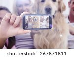 hand holding smartphone showing ... | Shutterstock . vector #267871811