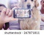 hand holding smartphone showing ... | Shutterstock . vector #267871811
