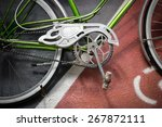 detail of the crank set of a... | Shutterstock . vector #267872111